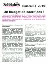 Tract Solidaires : Budget 2019